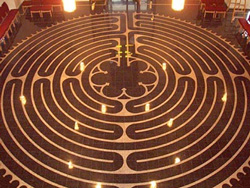 candlelit labyrinth [VFL Update]   A New Year's Resolution from Holy Spirit