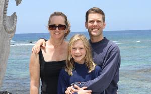 DavidPaul, Candace, and Hannah Doyle, Hawaii 2011